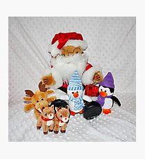 Christmas Fun for Teddy Photographic Print
