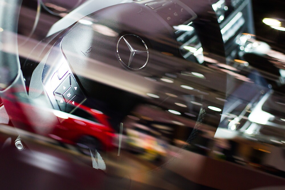 Mercedes-Benz Steering Wheel [ Print & iPad / iPod / iPhone Case ] by Mauricio Santana