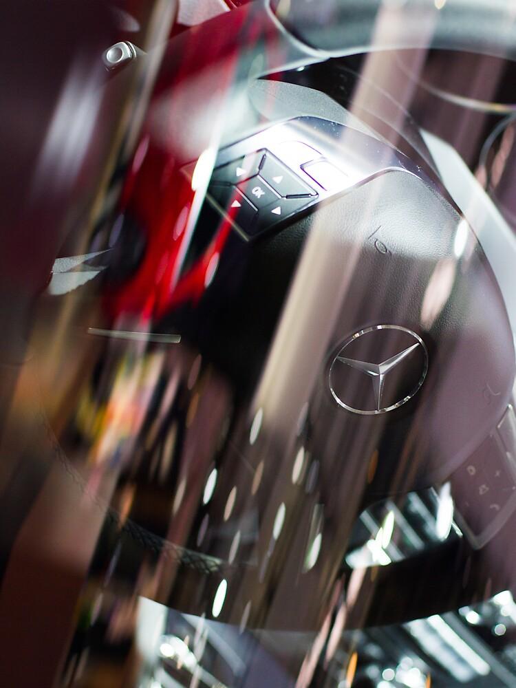 Mercedes-Benz Steering Wheel [ Print & iPad / iPod / iPhone Case ] by mauriciosantana