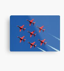 The Red Arrows ~ The Royal Air Force Metal Print