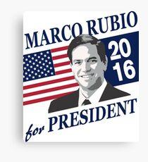Lienzo Marco Rubio para presidente 2016
