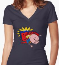 Bullshit Man - Karl Pilkington T Shirt Women's Fitted V-Neck T-Shirt