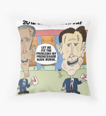 Obama Romney political cartoon Throw Pillow