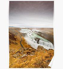 Gulfoss Falls Poster