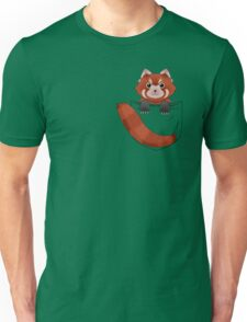 Pocket Red panda  Unisex T-Shirt