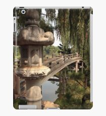 Japanese Bridge at the entrance to Sansho-En iPad Case/Skin