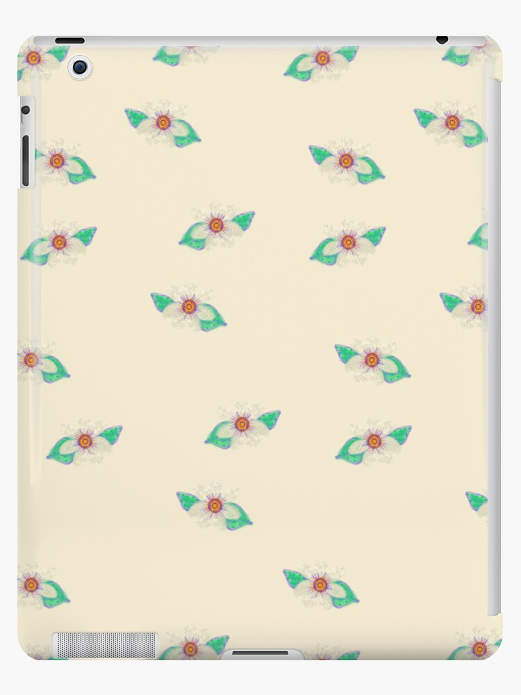 Pale Yellow Floral Art iPad Case by CheriesArt