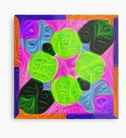#DeepDream Color Squares Visual Areas 5x5K v1448212784 Metal Print