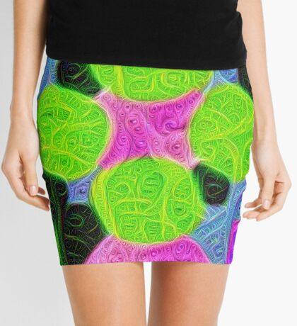 #DeepDream Color Squares Visual Areas 5x5K v1448212784 Mini Skirt