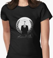 Anonymous - Expect Us Women's Fitted T-Shirt