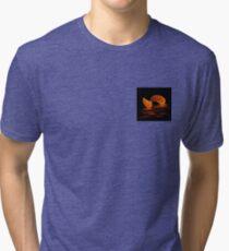 Black and Orange Tri-blend T-Shirt