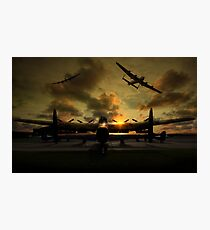 Sunset Lancaster Bombers Photographic Print