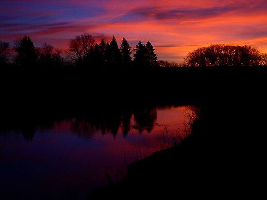 Sunrise Over Skunk Creek by Scott Hendricks