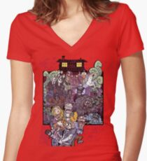 The Cabin in the Woods Women's Fitted V-Neck T-Shirt