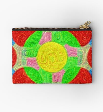 #DeepDream Color Squares Circles Visual Areas 5x5K v1448218386 Zipper Pouch