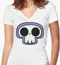 Grave Logo Version 2 Women's Fitted V-Neck T-Shirt