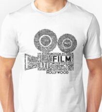 Film Camera Typography - Black T-Shirt