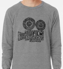 Film Camera Typography - Black Lightweight Sweatshirt