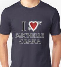 i love Michelle Obama heart  Unisex T-Shirt
