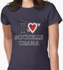 i love Michelle Obama heart  Women's Fitted T-Shirt