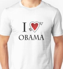 i love Barack Obama heart  Unisex T-Shirt