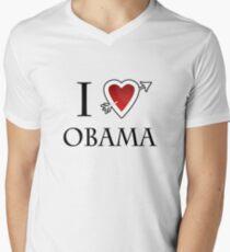 i love Barack Obama heart  Men's V-Neck T-Shirt