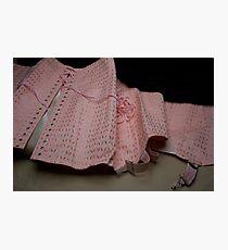 Une gaine or a vintage corset ?  Photographic Print
