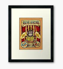 Death's Minstrel: Jolly Chimp Sideshow Banner Framed Print