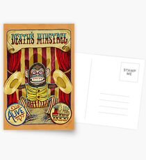 Death's Minstrel: Jolly Chimp Sideshow Banner Postcards