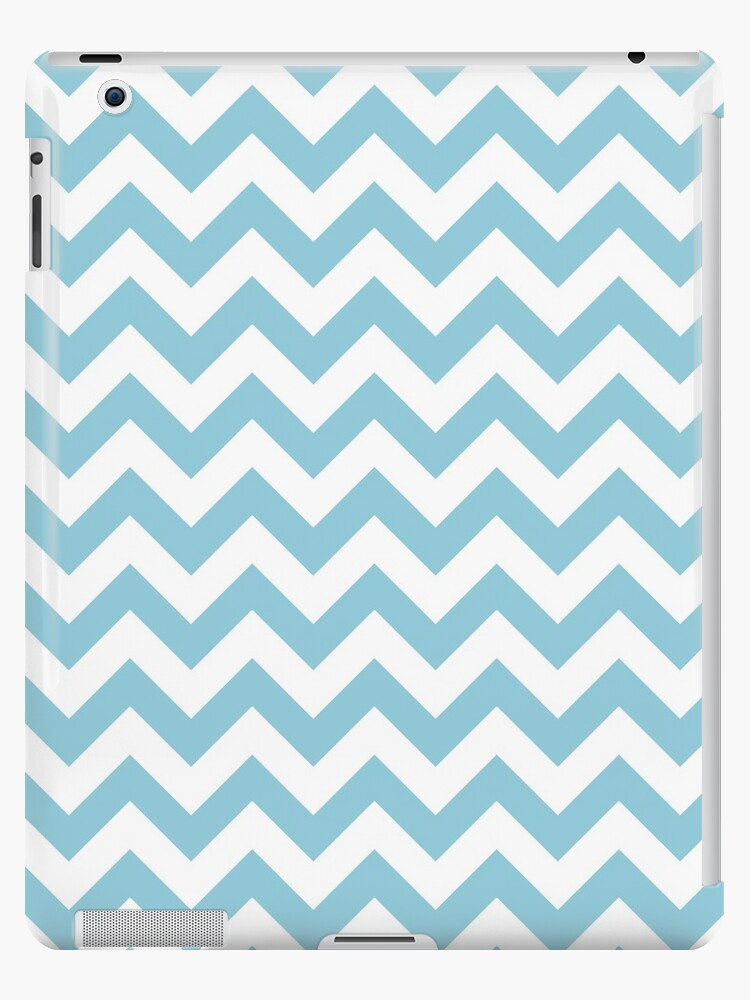 Blue and White Chevron Pattern by runninragged