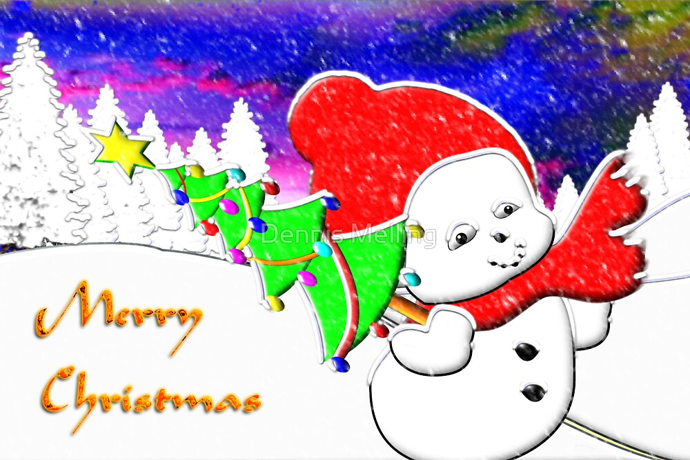 Merry Christmas from Snow Baby by Dennis Melling