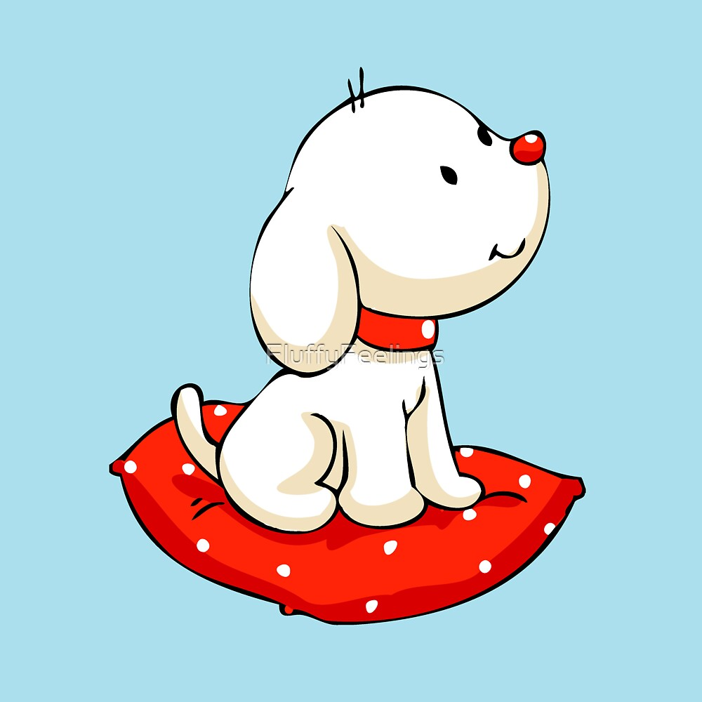 Christmas Dog on Cushion by FluffyFeelings