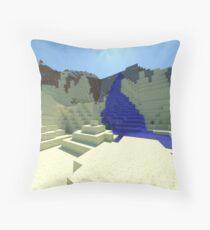 Life - Minecraft 3D Render Throw Pillow