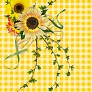 Gingham Sunflowers (iPad case) by Maria Dryfhout