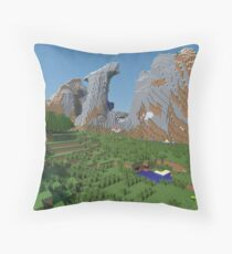 The Monument - Minecraft 3D Render Throw Pillow