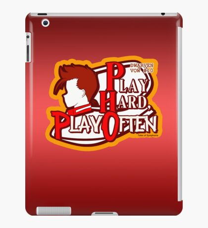 Dwarven Vow #10 - Play hard, play often! iPad Case/Skin