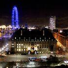 Westminster bridge - London eye  by joshuatree2