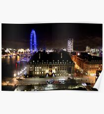 Westminster bridge - London eye  Poster