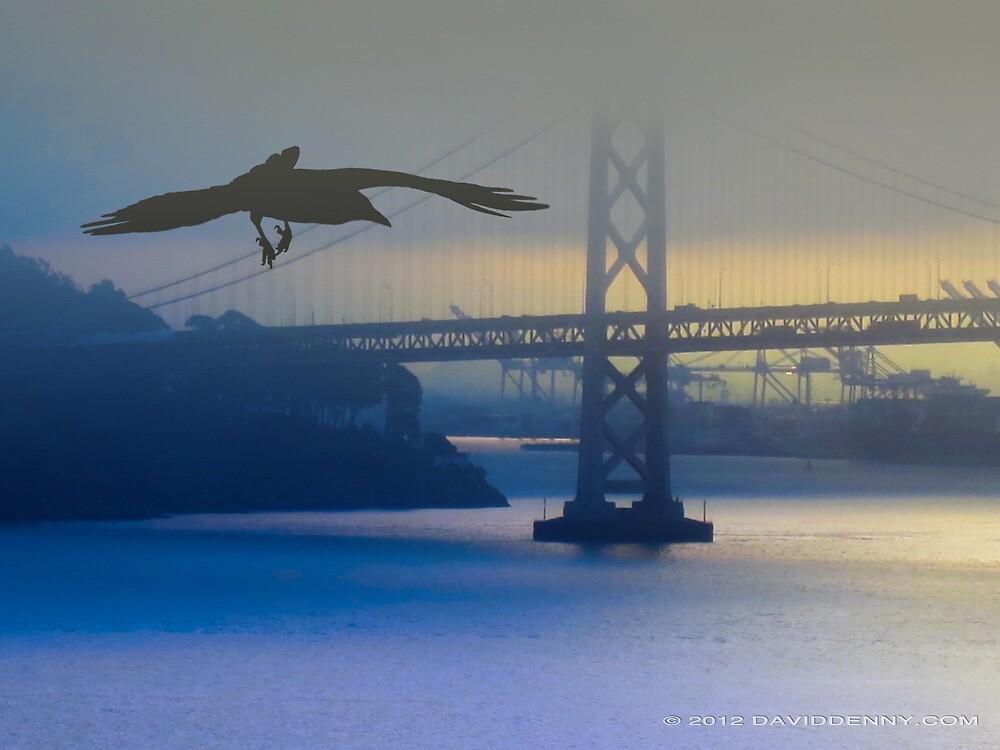 Crow and the Bay Bridge by David Denny