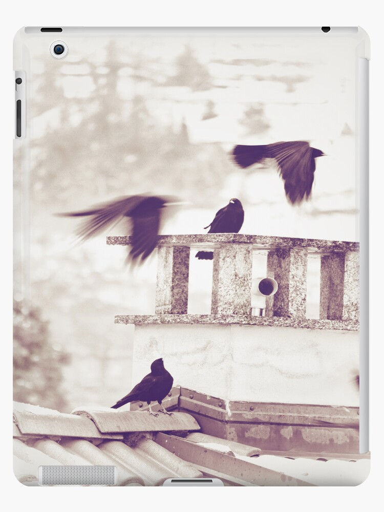 Crows - iPad case by Silvia Ganora by Silvia Ganora