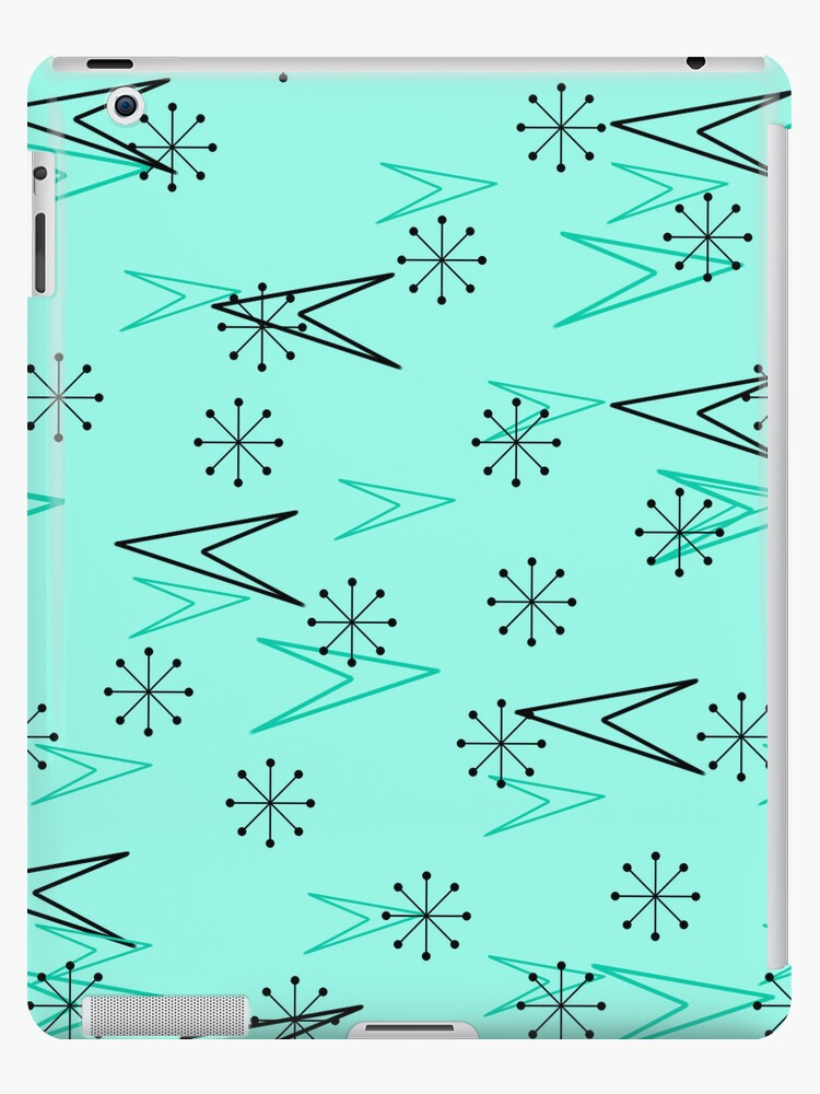 Turquoise Atomic Arrows, Fifties, iPad Case by CheriesArt
