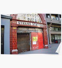 Strand Station, London Poster