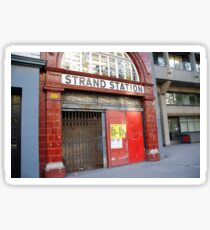 Strand Station, London Sticker