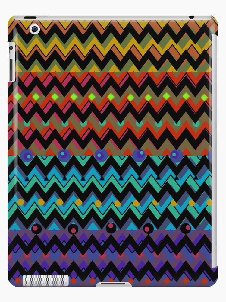 Funky Chevrons, Colorful iPad Case by CheriesArt