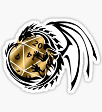 Dungeons and Dragons - Black and Gold! Sticker