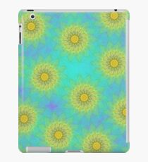 Yellow Kaleidoscope Flowers iPad Case iPad Case/Skin