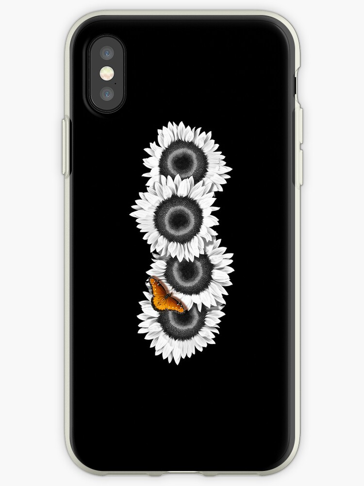 Iphone Case Sunflowers - Midnight Black by mpodger