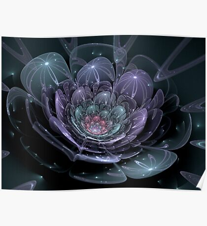 Glass Flower (available in ipad case) Poster