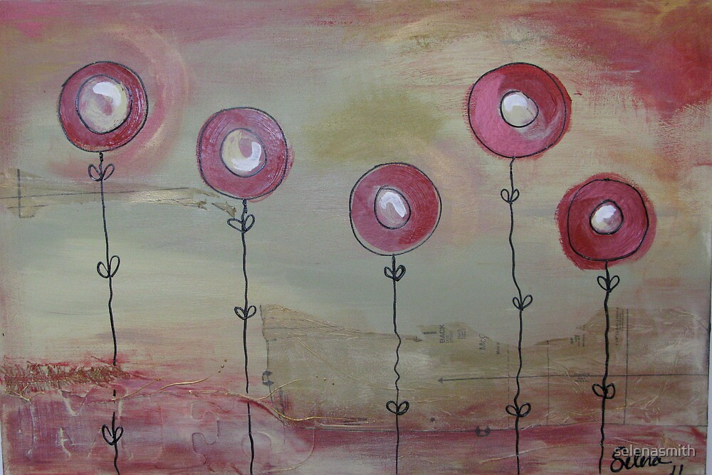 Modern poppies #1 by selenasmith
