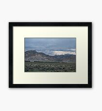 The Train in the Mesa Framed Print